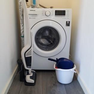 Wasmachine en mijn nieuwe bezemsteel